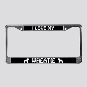 I Love My Wheatie License Plate Frame