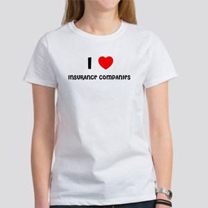 I LOVE INSURANCE COMPANIES Women's T-Shirt