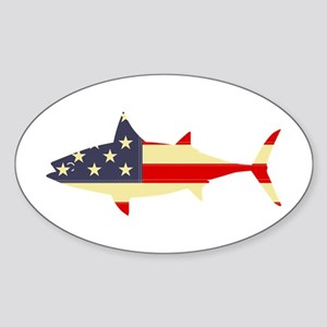 """Patriotic Tunoid"" Oval Sticker"