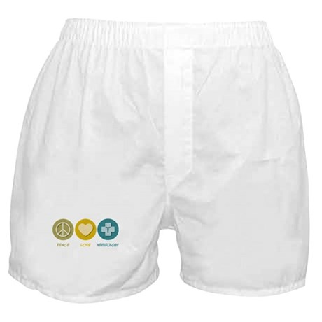 Peace Love Nephrology Boxer Shorts
