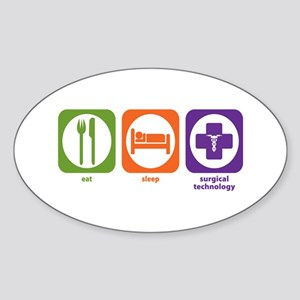 Eat Sleep Surgical Technology Oval Sticker