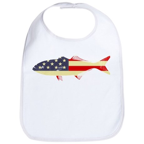 """Patriotic Bluefish"" Bib"