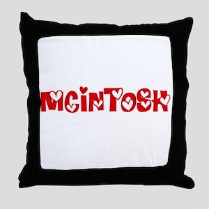 Mcintosh Surname Heart Design Throw Pillow