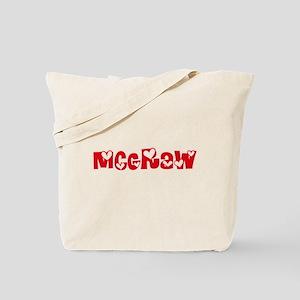 Mcgraw Surname Heart Design Tote Bag