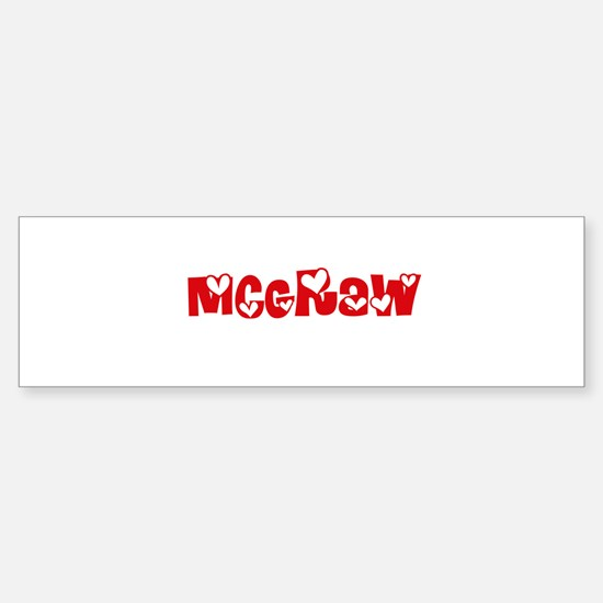 Mcgraw Surname Heart Design Bumper Bumper Bumper Sticker