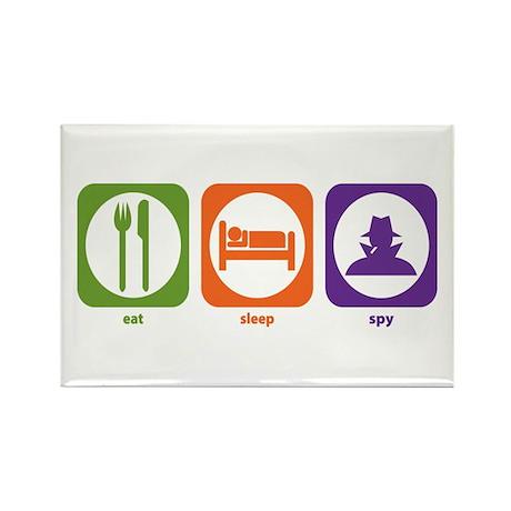 Eat Sleep Spy Rectangle Magnet (100 pack)