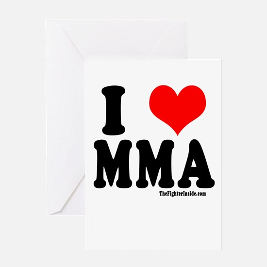 I LOVE MMA Greeting Card