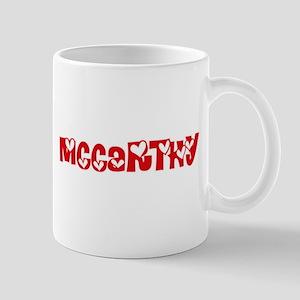 Mccarthy Surname Heart Design Mugs