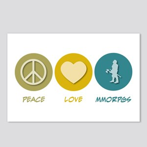 Peace Love MMORPGs Postcards (Package of 8)