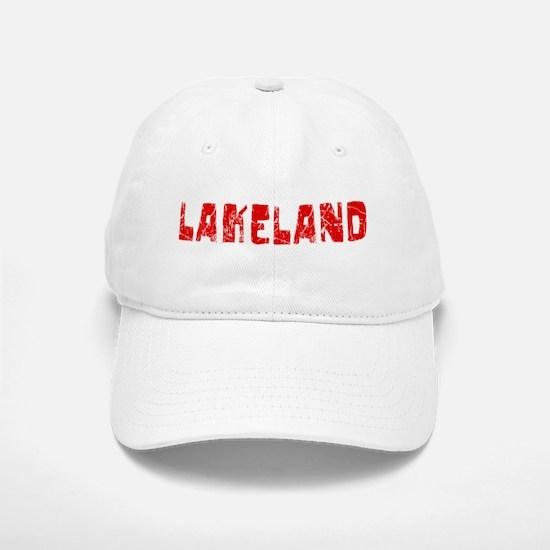 Lakeland Faded (Red) Baseball Baseball Cap