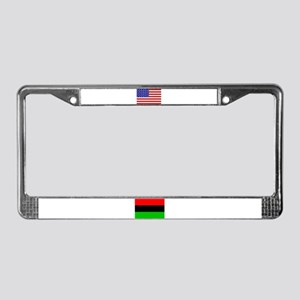 African American Flag License Plate Frame