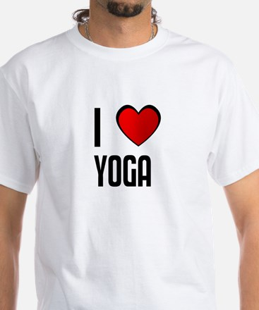 I LOVE YOGA White T-Shirt