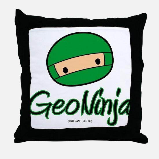 GeoNinja Throw Pillow