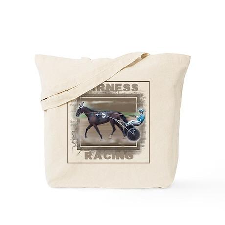 Brown Harness Racing Tote Bag