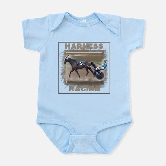 Brown Harness Racing Infant Bodysuit