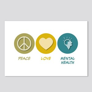 Peace Love Mental Health Postcards (Package of 8)