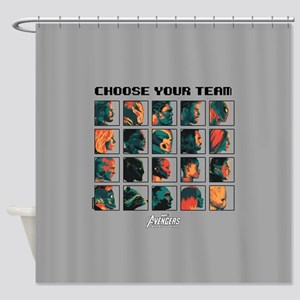 Avengers Infinity War Profiles Shower Curtain