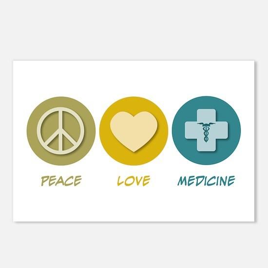 Peace Love Medicine Postcards (Package of 8)
