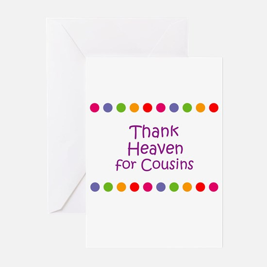 Thank Heaven for Cousins Greeting Cards (Pk of 10)
