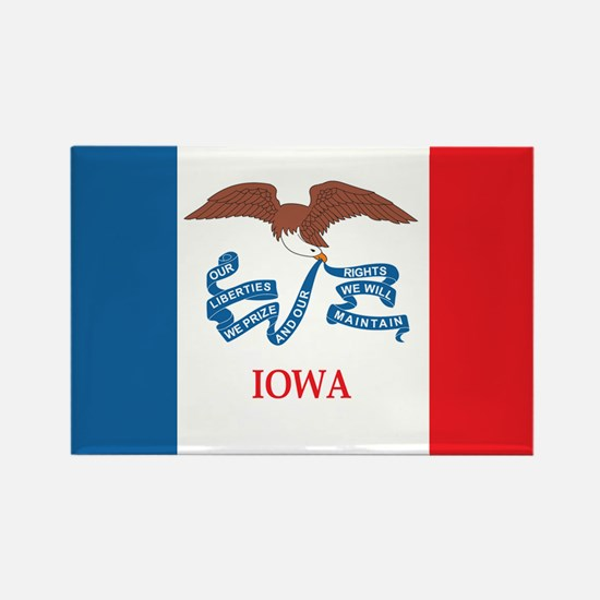 IOWA-FLAG Rectangle Magnet
