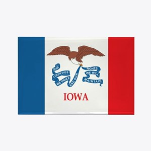 IOWA-FLAG Rectangle Magnet (100 pack)