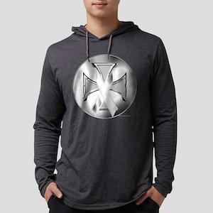 Lung Cancer Iron Cross Long Sleeve T-Shirt