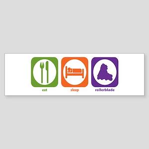 Eat Sleep Rollerblade Bumper Sticker