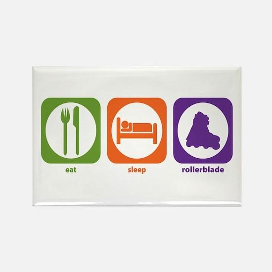 Eat Sleep Rollerblade Rectangle Magnet