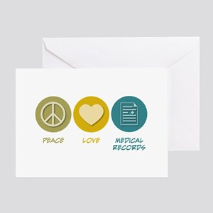 Peace Love Medical Records Greeting Card