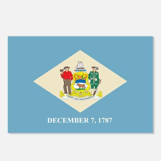 DELAWARE-FLAG Postcards (Package of 8)