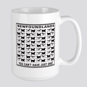 black and white newfoundland Mugs