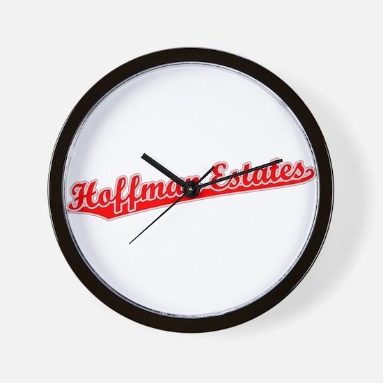 Retro Hoffman Esta.. (Red) Wall Clock
