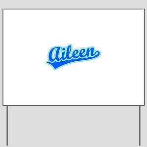 Retro Aileen (Blue) Yard Sign