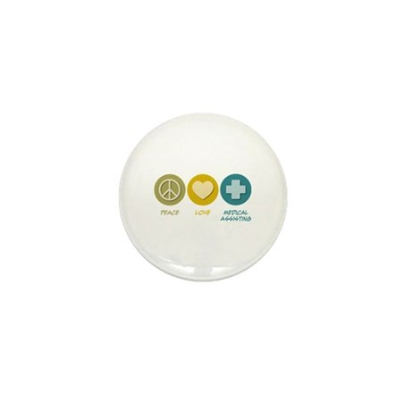 Peace Love Medical Assisting Mini Button (10 pack)