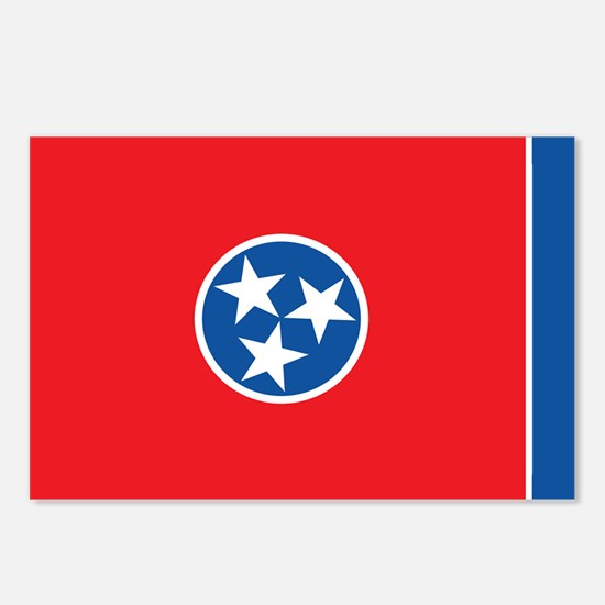 TENNESSEE-FLAG Postcards (Package of 8)