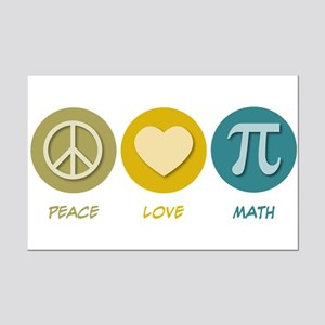 Peace Love Math Mini Poster Print