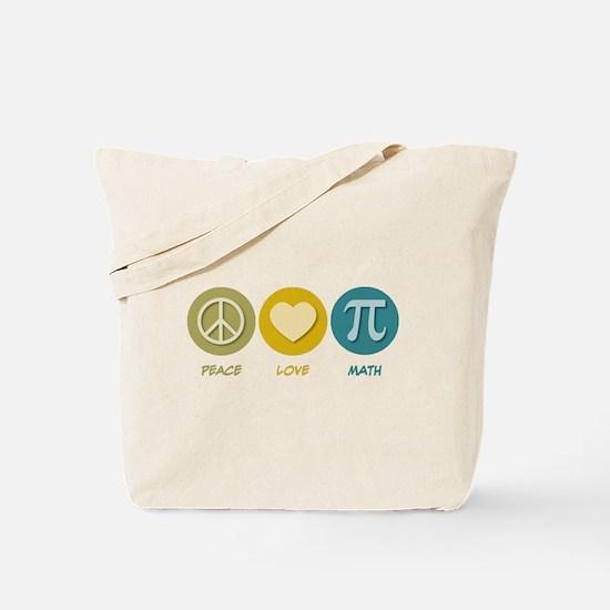 Peace Love Math Tote Bag
