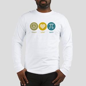 Peace Love Math Long Sleeve T-Shirt