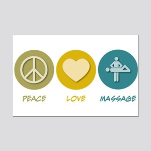 Peace Love Massage Mini Poster Print