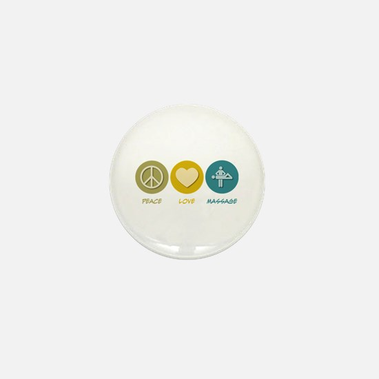 Peace Love Massage Mini Button