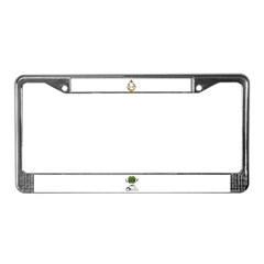 LUCKY COWGIRL HORSESHOE License Plate Frame