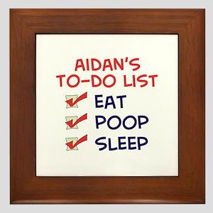 Aidan's To-Do List Framed Tile