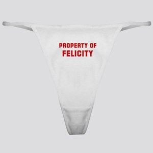 Property of FELICITY Classic Thong