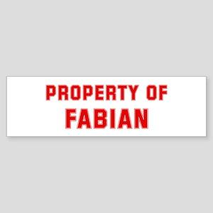 Property of FABIAN Bumper Sticker