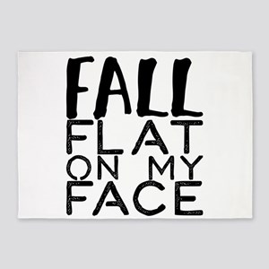 fall flat on my face 5'x7'Area Rug