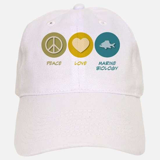Peace Love Marine Biology Baseball Baseball Cap