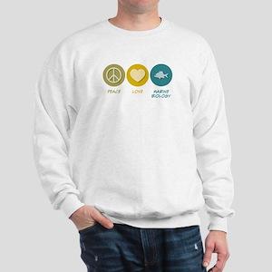 Peace Love Marine Biology Sweatshirt