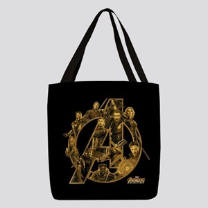 Avengers Infinity War Gold Polyester Tote Bag