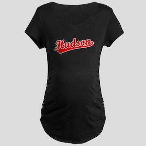 Retro Hudson (Red) Maternity Dark T-Shirt