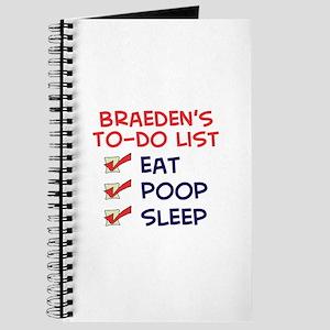 Braeden's To-Do List Journal